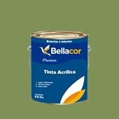 Tinta Acrílica Acetinado Premium C20 Verde Pasto 3,2L Bellacor
