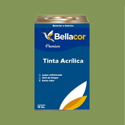 Tinta Acrílica Acetinado Premium C21 Verde 16L Bellacor