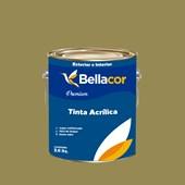 Tinta Acrílica Acetinado Premium C31 Verde Oliva 3,2L Bellacor