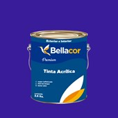 Tinta Acrílica Acetinado Premium C36 Azul Radiante 3,2L Bellacor