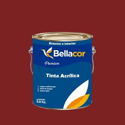 Tinta Acrílica Acetinado Premium C37 Vermelho Sangue 3,2L Bellacor