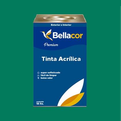 Tinta Acrílica Acetinado Premium C43 Verde Sálvia 16L Bellacor