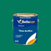 Tinta Acrílica Acetinado Premium C43 Verde Sálvia 3,2L Bellacor