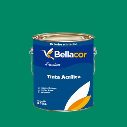 Tinta Acrílica Acetinado Premium C44 Verde Irlandês 3,2L Bellacor