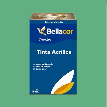 Tinta Acrílica Acetinado Premium C45 Esmeralda 16L Bellacor