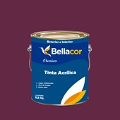 Tinta Acrílica Acetinado Premium C61 Geleia de Ameixa 3,2L Bellacor