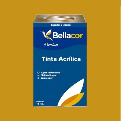 Tinta Acrílica Acetinado Premium C64 Amarelo Queimado 16L Bellacor