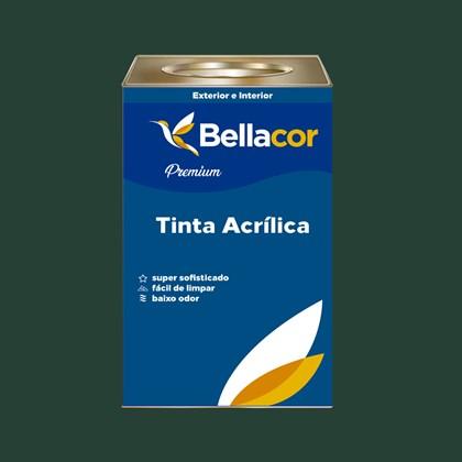 Tinta Acrílica Acetinado Premium C67 Verde Escuro 16L Bellacor