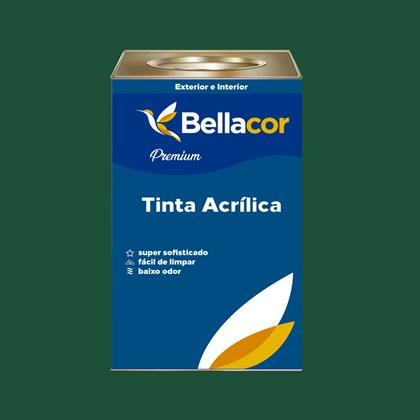 Tinta Acrílica Acetinado Premium C68 Verde Floresta 16L  Bellacor