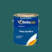 Tinta Acrílica Acetinado Premium C70 Azul de Paúba 3,2L Bellacor