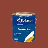Tinta Acrílica Acetinado Premium C73 Chocolate com Pimenta 3,2L Bellacor