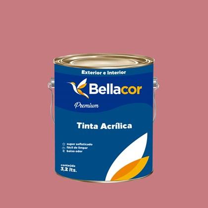 Tinta Acrílica Acetinado Premium C75 Flamingo 3,2L Bellacor