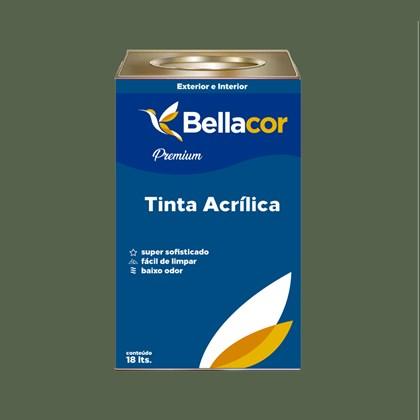 Tinta Acrílica Acetinado Premium C79 Verde Musgo 16L Bellacor