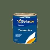 Tinta Acrílica Acetinado Premium C79 Verde Musgo 3,2L Bellacor