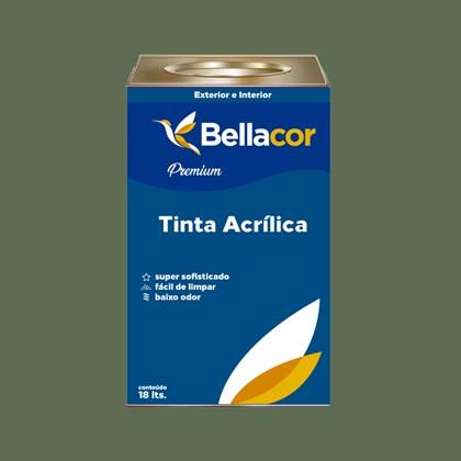 Tinta Acrílica Acetinado Premium C80 Verde Real 16L Bellacor