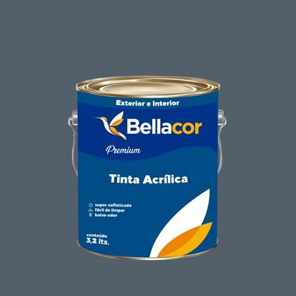 Tinta Acrílica Acetinado Premium C82 Cinza Azulado 3,2L Bellacor