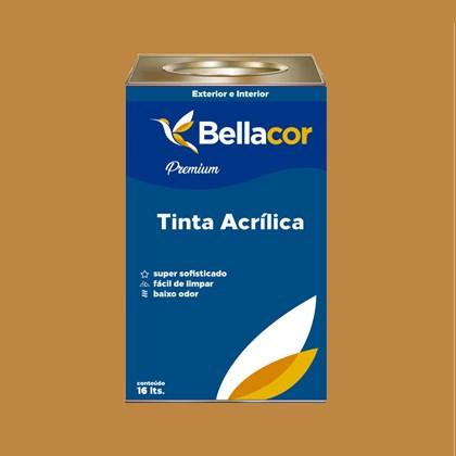 Tinta Acrílica Acetinado Premium C88 Caramelo 16L Bellacor