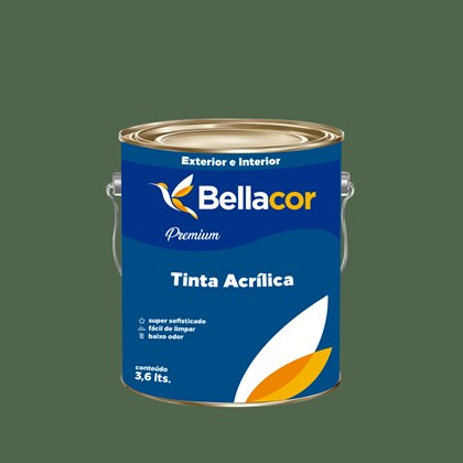Tinta Acrílica Acetinado Premium C92 Verde Folha 3,2L Bellacor