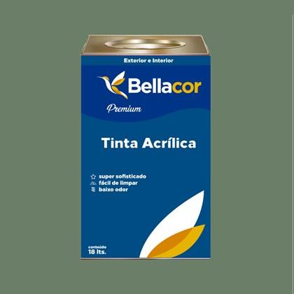 Tinta Acrílica Acetinado Premium C93 Verde Botânico 16L Bellacor