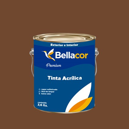 Tinta Acrílica Acetinado Premium C98 Cacau 3,2L Bellacor