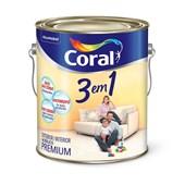 TINTA ACRÍLICA FOSCA 3 EM 1 OCRE COLONIAL - 3,6L CORAL