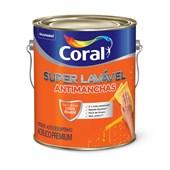 Tinta Acrílica Fosca Branco Super Lavável Eggshell 3,6L - Coral
