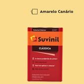 Tinta Acrílica Fosca Clássica Amarelo Canario 18L Suvinil