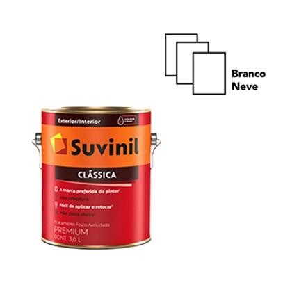 TINTA ACRÍLICA FOSCA CLÁSSICA BRANCO NEVE - 3,6L SUVINIL