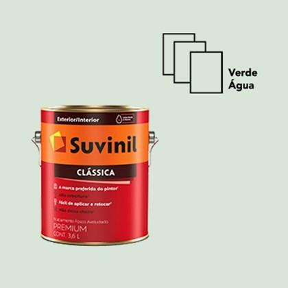 TINTA ACRÍLICA FOSCA CLÁSSICA VERDE ÁGUA  - 3,6L SUVINIL