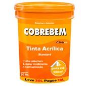 TINTA ACRÍLICA FOSCA COBREBEM BRANCO - 20L BELLACOR