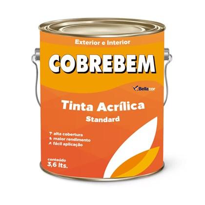 TINTA ACRÍLICA FOSCA COBREBEM BRANCO - 3,6L BELLACOR