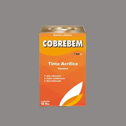 Tinta Acrílica Fosca Cobrebem Cinza Espacial 18L  Bellacor
