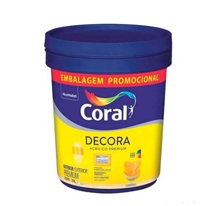 TINTA ACRÍLICA FOSCA DECORA BRANCO - 20L CORAL