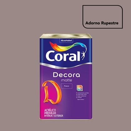 Tinta Acrílica Fosca Decora Matte Adorno Rupestre 16L Coral