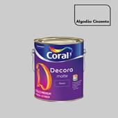 Tinta Acrílica Fosca Decora Matte Algodão Cinzento 3,2L Coral