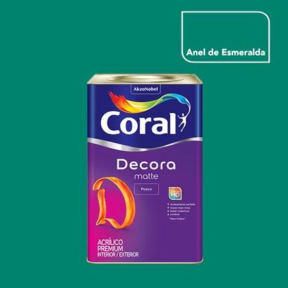 Tinta Acrílica Fosca Decora Matte Anel De Esmeralda 16L Coral