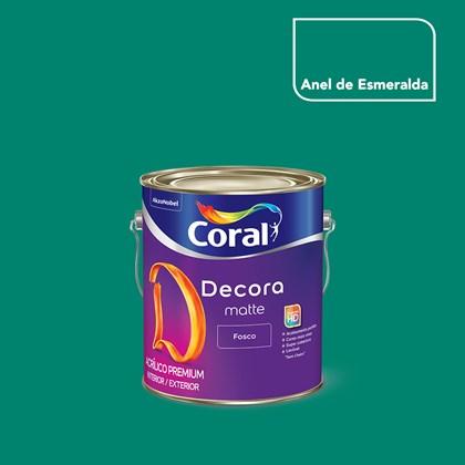 Tinta Acrílica Fosca Decora Matte Anel de Esmeralda 3,2L Coral