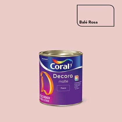 Tinta Acrílica Fosca Decora Matte Balé Rosa 800ml Coral