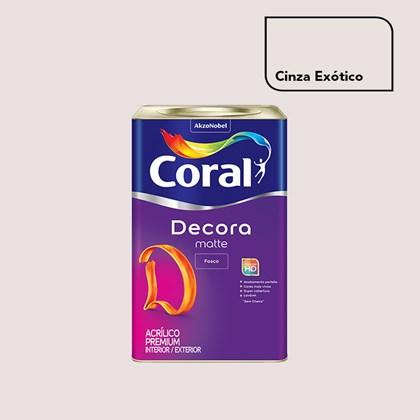 Tinta Acrílica Fosca Decora Matte Cinza Exótico 16L Coral