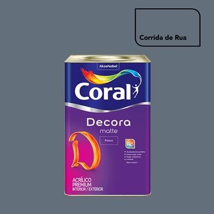 Tinta Acrílica Fosca Decora Matte Corrida De Rua 16L Coral
