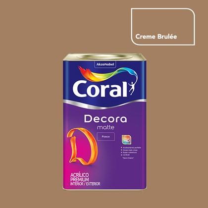 Tinta Acrílica Fosca Decora Matte Creme Bruleé 16L Coral