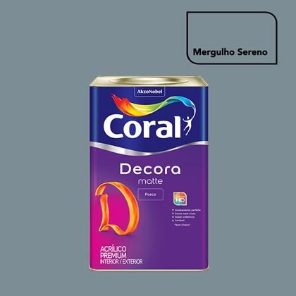Tinta Acrílica Fosca Decora Matte Mergulho Sereno 16L Coral