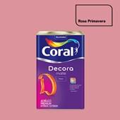 Tinta Acrílica Fosca Decora Matte Rosa Primavera 16L Coral