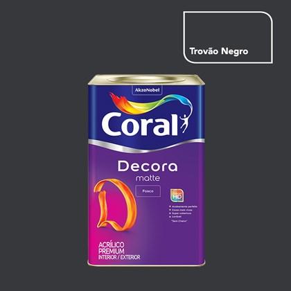 Tinta Acrílica Fosca Decora Matte Trovão Negro 16L Coral