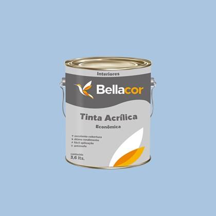 Tinta Acrílica Fosca Econômica Azul Sereno 3,6L Bellacor