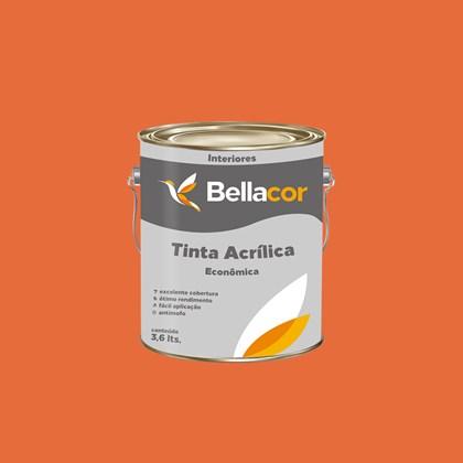 Tinta Acrílica Fosca Econômica Cenoura 3,6L Bellacor