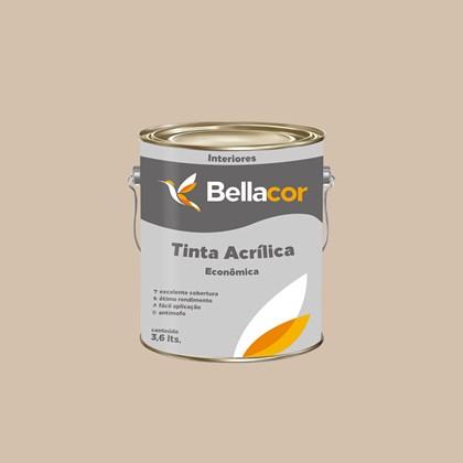 Tinta Acrílica Fosca Econômica Palha 3,6L  Bellacor