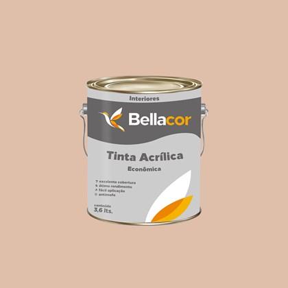 TINTA ACRÍLICA FOSCA ECONÔMICA PÊSSEGO - 3,6L BELLACOR