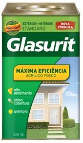 TINTA ACRÍLICA FOSCA MÁXIMA EFICIÊNCIA AMARELO OURO - 18L GLASURIT