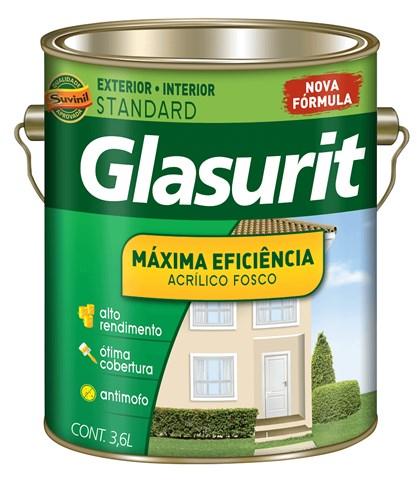 TINTA ACRÍLICA FOSCA MÁXIMA EFICIÊNCIA EQUILÍBRIO - 3,6L GLASURIT